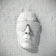 Mensch Gesicht Sonnenbrille aus kariertem Papier