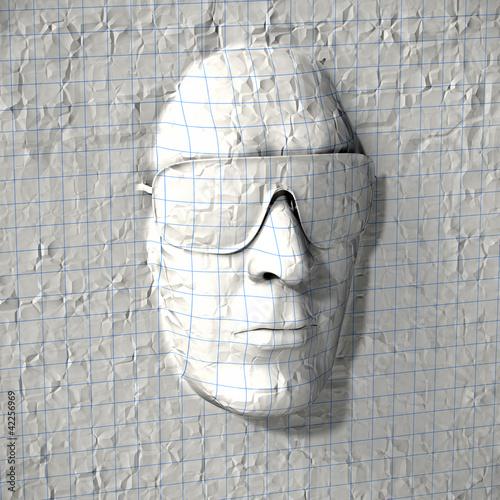 Papier Kopf Konzept
