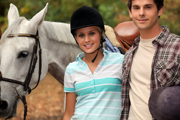 Young horseback riders