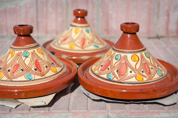 Moroccan traditional Tajine with ornaments