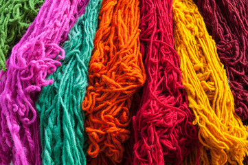 Colored wool for knitting Essaouira Morocco