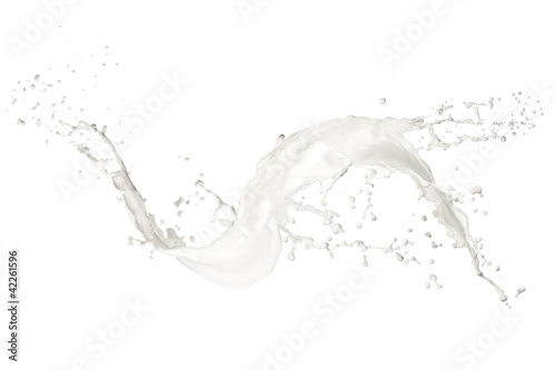 Leinwandbild Motiv Milk splash, isolated on white background
