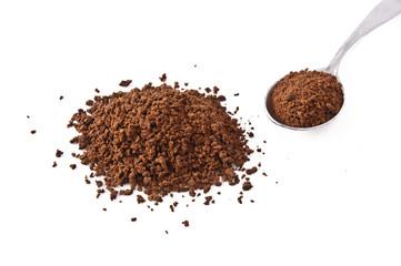 caffè solubile e cucchiaio
