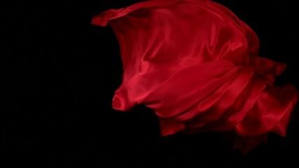 Red velvet fabric, Slow Motion