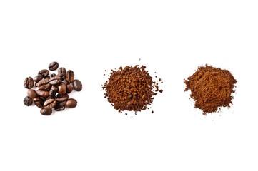 caffè in grani, solubile, in polvere