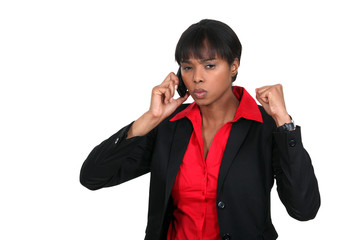 An angry businesswoman