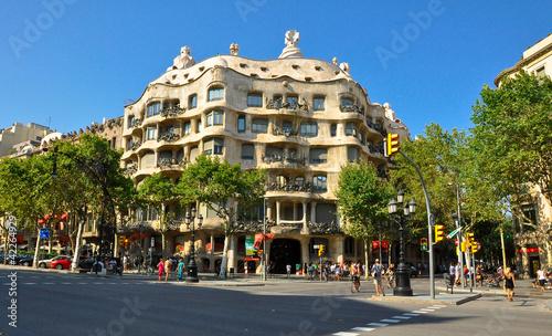 Casa Milà or La Pedrera.Antoni Gaudí. Barselona.