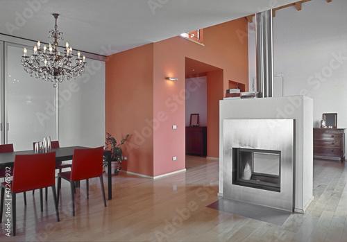 Sala da pranzo moderna con lampadario a gocce immagini e fotografie royalty free su fotolia - Lampadario sala da pranzo moderna ...