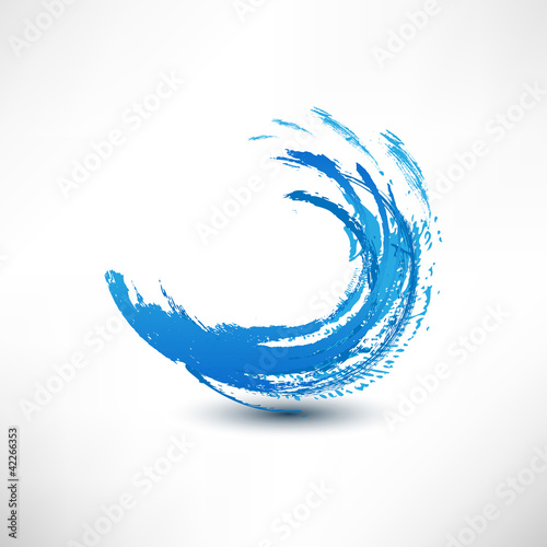 Blue wave sign