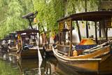 Fototapety Gondolas in Zhouzhuang China