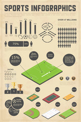 Design elements for sports infographics. Vector illustration.