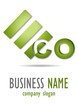 Business logo eco 3D desing