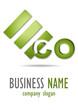 Business logo eco 3D desing