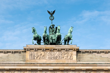 Brandenburg Gate is the ancient gateway to Berlin