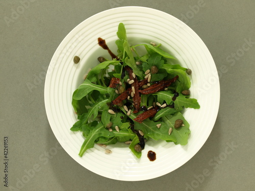Salad in plate
