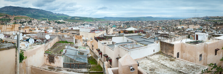 Fes in Morocco panoramic view skyline panorama