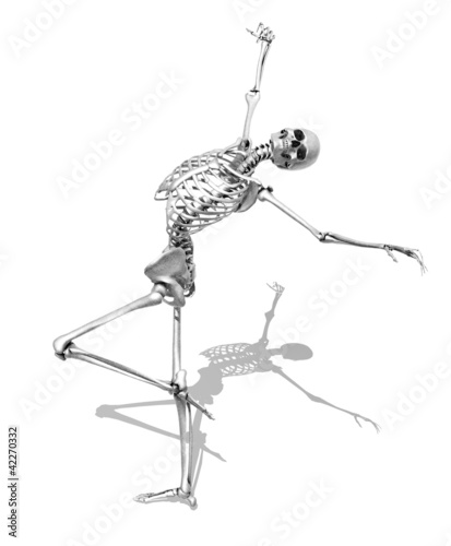 Skeleton in Skating Pose - Pencil Style