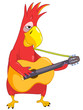 Funny Parrot. Guitarist