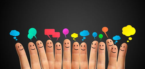 communicate finger smileys