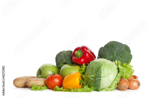 Group of fresh vegetables, isolated