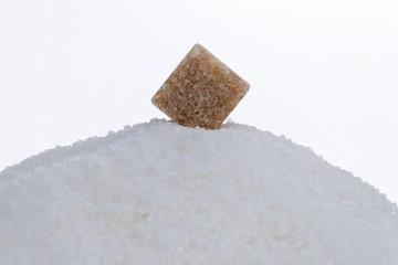 Brauner Zucker. Ungesunde Ernährung