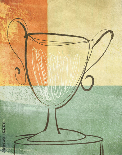 Loving Cup Trophy Prize Illustration