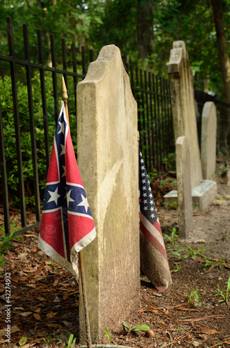 Confederate grave at Sunbury Cemetery