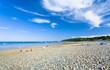sea pebble beach in Brittany