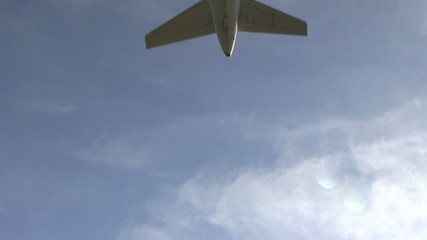 Plane passing overhead
