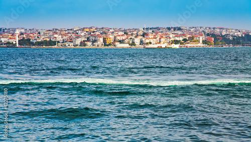view on Istanbul through Bosphorus