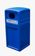 Recycling bin blue plastic can