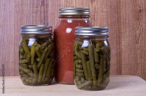 Homemade pickled vegetables tomato sauce