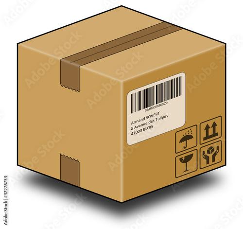 colis carton 3d photo libre de droits sur la banque d 39 images image 42276734. Black Bedroom Furniture Sets. Home Design Ideas