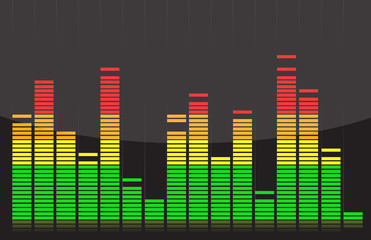 Equalizer lights colorful design illustration over back