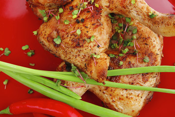savory food : roasted chicken
