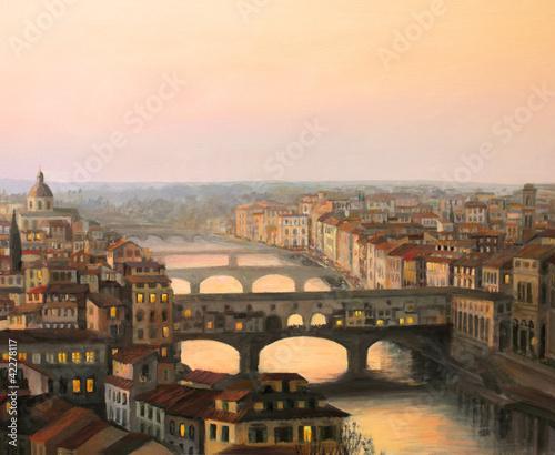Leinwandbild Motiv Florence Ponte Vecchio