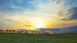 summer landscape - sunset