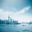 shanghai skyline with huangpu river