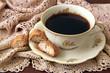 biscotti und kaffee