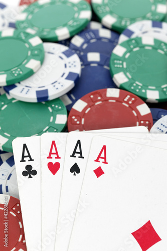 four aces for win