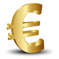 3d altın euro ikonu