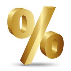 3d altın yüzdelik ikonu