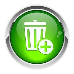 bouton internet poubelle icon.