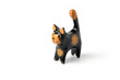 Ornamental wooden cat