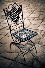 Sedia in ferro - vintage