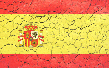 Faded Cracking Spanish Flag