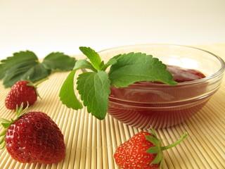 Erdbeerkonfitüre mit Stevia