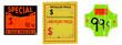 set of vinatge price stickers, adhesive labels