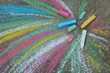 Crayons for drawing on the pavement