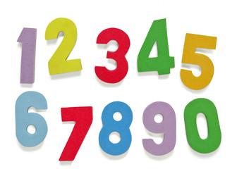 Números de goma eva